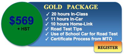569 driving course gold package