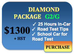 1300 in car lessons diamond package