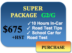 675 super package 10 in car lessons car for road test