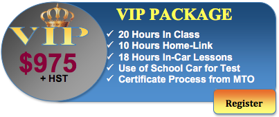 975 driving course vip package