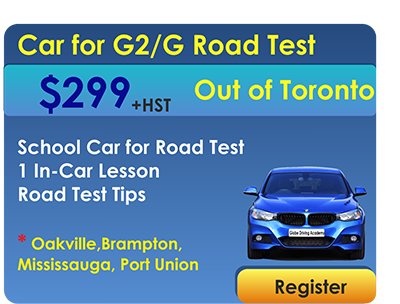 Car for Road Test out of Toronto