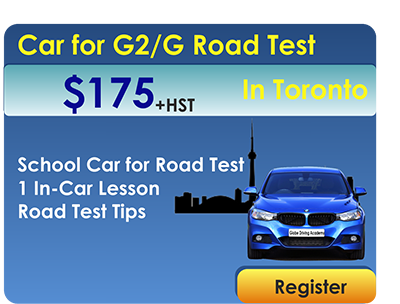 Car for Road Test Toronto