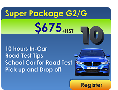 Super Package 10 In Car Lessons and Car for Road Test