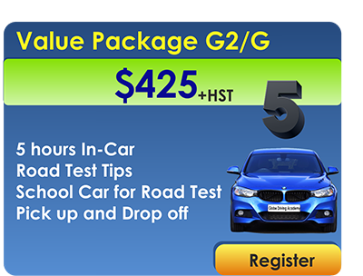 Value Package 5 In Car Lessons and Road Test